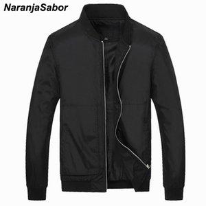 Erkek Ceketler Naranjasabor Bahar Sonbahar Erkek Giyim Rahat Moda Slim Fit Ceket Rüzgarlık Erkekler Marka Giyim 4XL N412