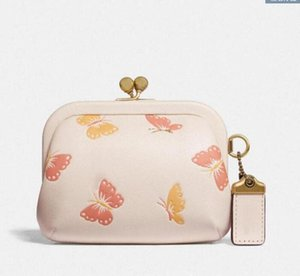 Designer-new fashion luxury designer lock kiss coin bag solid color printing cute clutch metal buckle pendant jewelry ladies walletdce8#