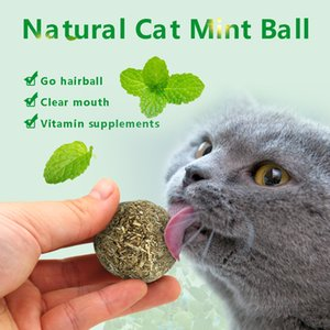 Cat Toy Natural Catnip Treat Ball Favor Home Chasing Pet Chew Toys Healthy Safe 100% Edible Treating Dog Cats Training Tools