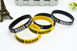 DHL Black Live Matter Wristband Silicone Bracelet Women Men Unisex Rubber Bracelet Wristband Bracelet Adult children