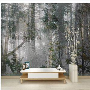 Photo Forest wallpapers madeiras papéis de parede naturais sala papel de parede de fundo papel de parede 3D estereoscópico