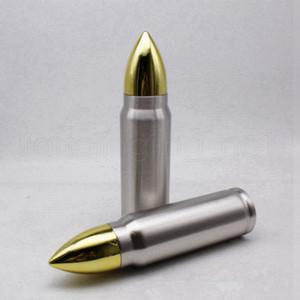 1000 ml Forma di pallottola Bottiglia da bere Tumbler 32oz in acciaio inox Acciaio inox Isolato Bottiglie d'acqua Black Outdoor Sport Water Cups RRA4039