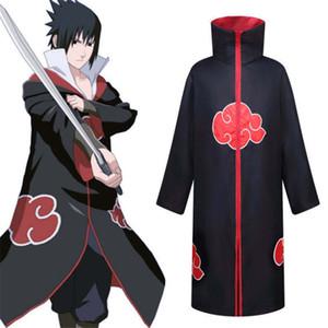 Naruto Akatsuki Cloak Sasuke Uchiha Tobi Schmerz Cape Itachi Kleidung Cosplay 135-xxl