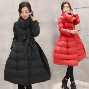 2020 NEW Womens Coat Winter Down Jackets Women Black Long Coat Silm Warm Parkas Outerwear Womens Clothing X979