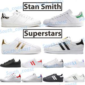 2021 Дешевого Стан кузнец моды обувь мужчины женщины случайные кроссовки белого зеленый черный зебра суперзвезды университет красные мужские классические Chaussures