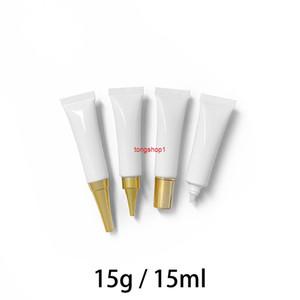 15ml Vide Eye Cream Squeeze Flacon Blanc Cosmétique Conteneur Cosmétique Maquillage Fondation Packaging Tube Soft Tube Soft Livraison gratuite