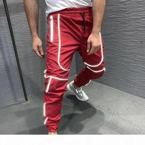 Patchwork Jogging Sportswear Training Gym Fitness Elastic Pencil Trouser Safe Unisex Night Running Jogger Sport Reflective Pants