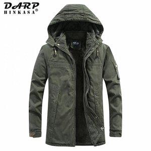 DARPHINKASA Winter Warm Men Parkas Jackets 2020 New Parka Coat Velvet Thick Windproof Hooded Winter Jackets Men