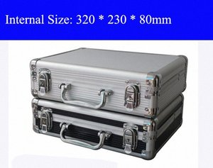 Aluminum Tool case suitcase toolbox File box Impact resistant safety case equipment camera with pre-cut foam shipping free qoDp#