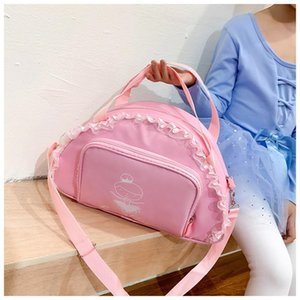 High Quality Ballerina Package Large Capacity Ballet Dance Bags For Kids Girl Purple Dancing Lace Tutu Bag