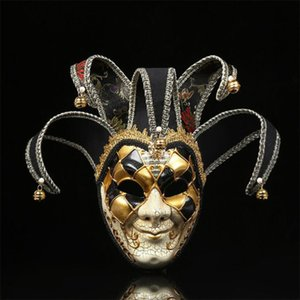 Trendy Ins Moda Pagliaccio stampato uomini festival maschere maschere modello adolescenti decorazione maschera halloween personalità fascino maschile maschere per feste
