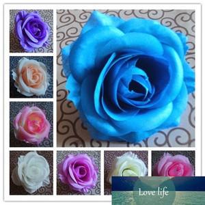 6PCS 9CM 12COLORS Artificial Rose Silk Flower DIY Wedding Arch Flowers Wall Bouquet Kissing Ball Making