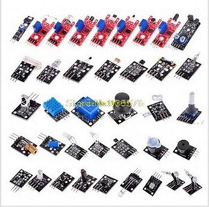 Wholesale-37 IN 1 SENSOR KITS FOR ARDUINO HIGH-QUALITY FREE SHIPPING (Works with Official Arduino Boards)1