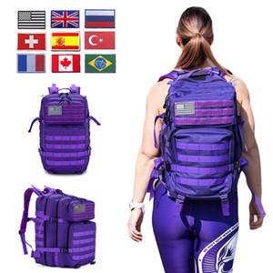 50L Uomo / Donna militare zaino tattico Crossfit Borsa da palestra fitness impermeabile Molle Bug Out Bag Outdoor Escursionismo Zaino C1008