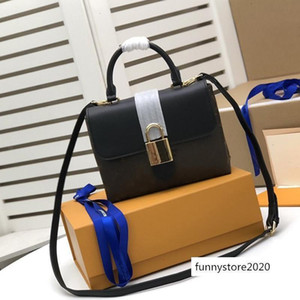 Высокое качество натуральной кожи Locky BB пресбиопия кожаный замок почтальон сумка портативная женская сумка сумка сумки M44141