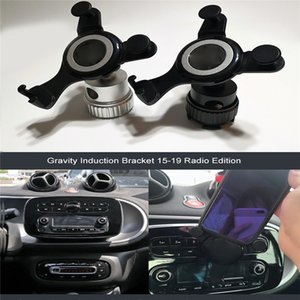 Radio Interface GPS Navigation Bracket Mobile Phone Holder for Smart Fortwo 453 15-19 Car Accessories