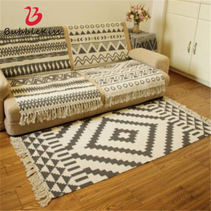 Cotton Soft Tassel Home Carpets For Living Room Bedroom Kid Room Decorate Home Carpet Floor Door Mat Simple Nordic Area Rug Mat 201225