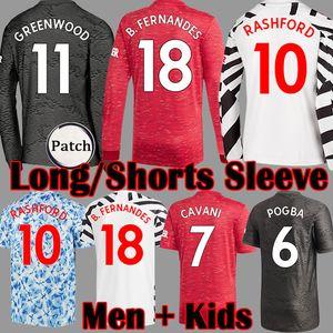Camiseta de fútbol de FC Manchester United GREENWOOD soccer jersey POGBA 2019 2020 LINGARD LUKAKU RASHFORD chandal de fútbol UniTEd UtD 19 20 uniformes MAN jerseys de la