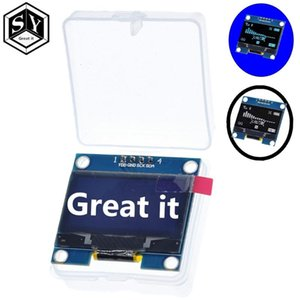 "1.3 ""OLED وحدة اللون الأبيض 128X64 1.3 بوصة OLED LCD LED وحدة العرض 1.3"" IIC I2C التواصل مع القضية"