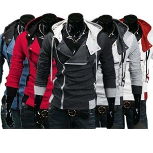 Mens Creed Hoodie Jacket Costume Assassins Slim Cosplay Cool Fashion For Lot