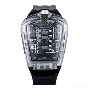 TRANSPORTE CLÁSSICO SPORT SPORT Watch Quartz Alta Qualidade Moda Silicone Strap Man Watches Watch