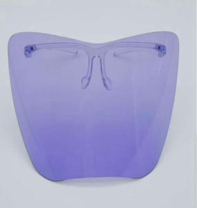 Clear Glass Face Shield Full Face Masarilla protectora de plástico Colorido Anti-Fog Anti Oil Polvo Splash Safty Funda Faceshield GGA3799-3