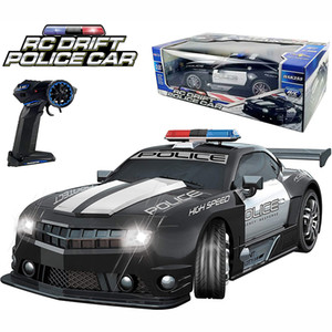 2.4GHz Super Fast 1:12 RC Police Sports Car Toys Radio Remote Control Hot Pursuit Cop Chase Drift Patrol Vehicle Flashing Light 201124