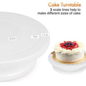 52pcs Turntable Pasticceria tubo Piping Borse torta che decora corredo Raschietti Cucina fondente cottura Attrezzatura Attrezzi antiaderente glassa