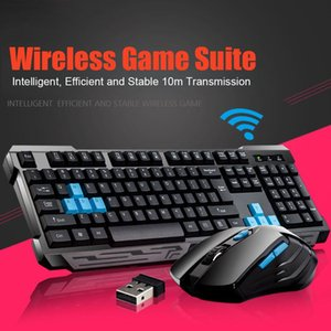 Yeni Sıcak Klavye Mouse Combos Su geçirmez Multimedya 2.4GHz Kablosuz Gaming Keyboard USB Kablosuz Mous