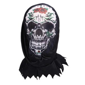NewHalloween Funny Print One-piece Headgear Face Unisex Scary El-wire Mask Light Up Festival Cosplay Costume Supplies Party