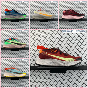 Zoom Pegasus trilha 2 37 Turbo Trail Running Shoes Men Sneakers portátil Hiper Violet EUA Branco Preto Multi-cor exterior Trainers Tamanho