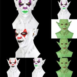 RIrdk máscara máscaras partido liderado trajes de Halloween Cosplay Imp Skeleton Natal Emulsion Crânio do palhaço capa Horror Dança máscara Máscaras Luz Ye Kucw