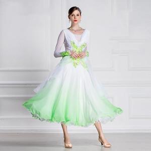 The new National standard ballroom dress woman ballroom dresses dance customize dress competition l-B-18204