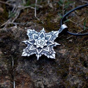 Pingente Colares Retro Tibete Colar Espiritual Mandala Geometria Amuleto Jóias Religiosas