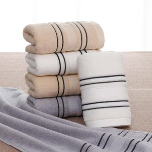 2020 Newest Hot Unisex Adult Soft Touch Cotton Absorbent Luxury Bath Toilet Towels Hand Face Towel Striped Quick-Dry