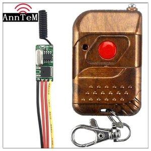 Дистанционные контроллеры Беспроводной коммутатор управления Мини-малым 433 МГц РЧ-приемник RF 3.7V 5V 6V 9V 12 батареи. Микро контроллер