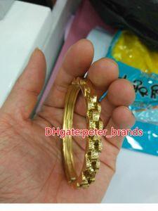Stainless steel men's bangles gold silver luxury style fashion bracelet size around 19cm fresh arrivals 2018