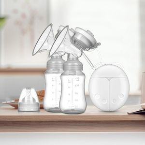 펌프, 더블 전기 유방 펌프 충전식 강력한 흡입 레벨 대 마사지 모드 C1016