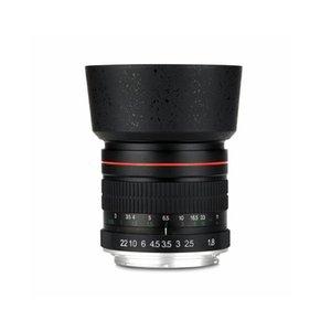 550D 600D 700D 5D 6D 7D 60D DSLR Kamera 85mm F1.8-F22 anamorfik Manuel Odak portresi Mercek Kamera Lens