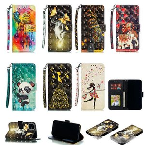 3D Leather Wallet Case For Iphone 12 5.4 6.1 6.7 2020 LG Stylo 6 Stylo6 Tiger Dreamcatcher Flower Panda Sexy Lady Girl Butterfly Flip Cover