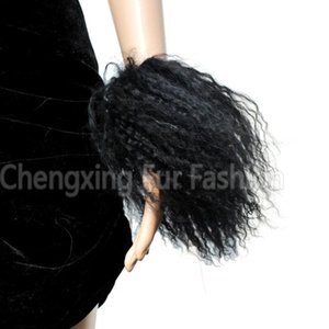 FREE SHIPPING CX-A-47 Cute And Lovely Mongolian Lamb Fur Fur Cuff Bracelet Hot Selling