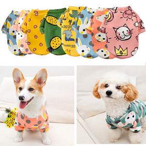 Cartoon Print Cute Pet Clothes for Small Dogs Cats Winter Warm Coat Shih Tzu Sweatshirt Puppy Kitten Pullover Pet Supplies 2020