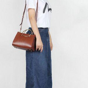 YIFANGZH Top Qualitly Women Bag , Genuine Leather Top Gold Handle Satchel Bag Shoulder For Women LlV0#