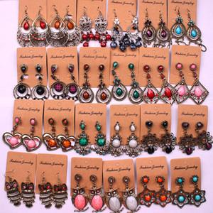 Vintage Bohemien stile etnico lungo nappe orecchini per le donne ladies dangle chandelier orecchini gioielli moda gioielli casuale