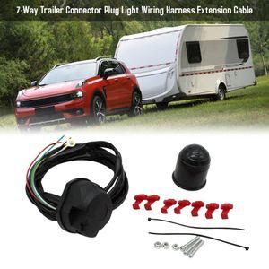 carro 7-Way Trailer Connector plug Luz cablagem cabo de extensão