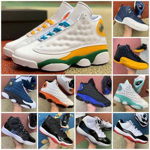 2021 Yeni Varış Jumpman 13 12 11 GS Bahçesi Mens Bayan Şanslı Yeşil Soar 13 S 12 S 11 S Spor Sneakers Eğitmen Boyutu 36-47