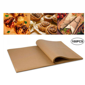 30*40cm Baking Paper BBQ Baking Sheets Bakery BBQ Party Non-stick Double-sided Silicone Oil Paper Parchment Rectangle Oven Paper AHA1753