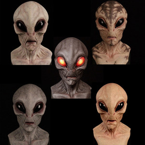 De Halloween máscara de látex de terror máscara de vampiro del arnés de cabeza blanca cara podrida tocados por mayor máscaras partido tocados complicado decoración cosplay alienígenas