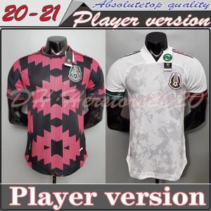 Versioni 2020 2021 Messico Jersey di calcio Nazionale rosso domestico 20 21 CHICHARITO LOZANO GUARDADO CARLOS VELA RAUL personalizzato Football Shirt