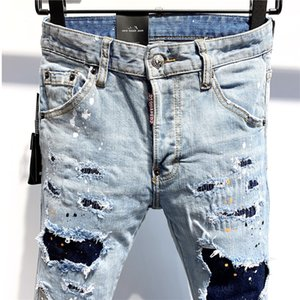 Fashion-20ss Designer Jeans Mens Fashion Brand Jeans Casual Denim Pants Distressed Ripped Jean Denim Embroidery Trousers Luxury 9 styles